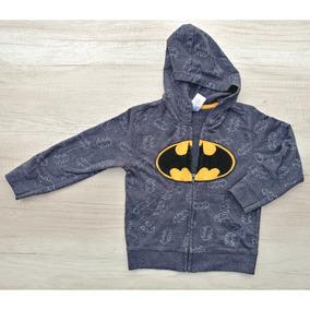 Chamarra Gris Batman Con Gorro Cierre Y Bolsas Envíos Gratis