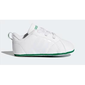 Tenis adidas Advantage Crib Blanco Verde 8-11 Bebe Original