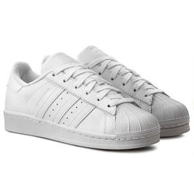 dd215b68173 Tenis Adidas Star Branco Com Dourado Feminino - Tênis no Mercado ...