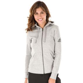 Campera Canguro adidas Essentials Solid De Dama Running