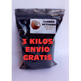 Carbon Activado 3 Kilos Envio Gratis Cascara De Coco