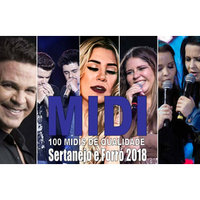 100 Midis Playbacks Top Para Teclado-sertanejo E Forró 2018