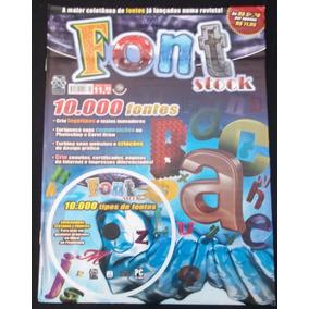 Cd Font Stock - 10.000 Fontes Para Diversos Fins - Ml