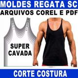 Moldes Regata Super Cavada Corte Costura Sublimação Molde 95f29efcd46