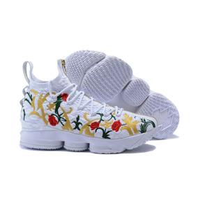 Tenis Nike Lebron 15 Floral Branco Original