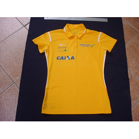 Camisa Polo Nike Fem Brasil Oficial Atleta Bm f Bovespa 4c2872e182308