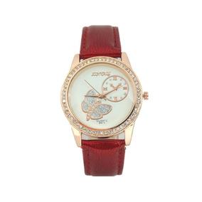 ba6984badfc Relógio Feminino Dourado Com Strass E Borboleta - Relógios De Pulso ...