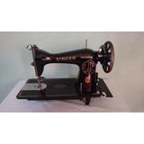 Máquina De Costura Reta Antiga Raridade Singer Funcionando