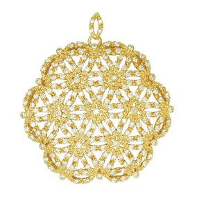 6092020353711 Mandala Em Ouro Branco E Flor (pi11) ~ Pingente Nix C - Joias e ...