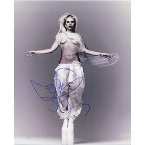 Foto Firmada De Lady Gaga 8x10 Autografiada