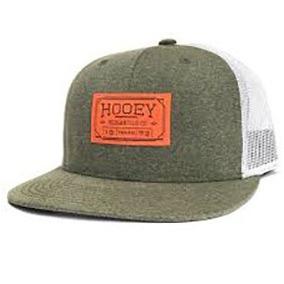 Gorra Hooey 1803t-olwh Verde Pinto Con Red Gris Y Parche