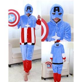 Capitan America Kigurumi Pijama Mameluco Disfraz Cosplay d3b2701cc21e