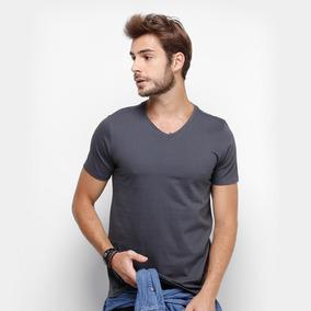 60c69c15cb Camiseta Gola V Masculina Básica Lisa Algodão Camisa Blusa