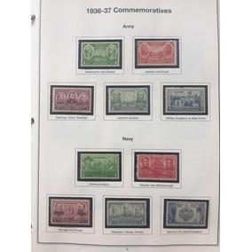 10 Selos Comemorativos Estados Unidos 1936-37