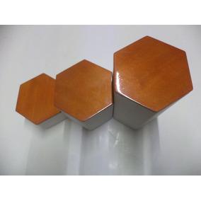 Set Pedestal Para Joyeria Base De Madera Superior