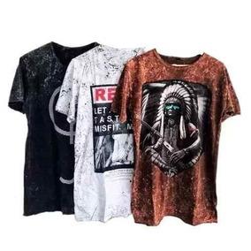 Kit 20 Camisetas Camisa Masculina Malha Pre Lavada Atacado 6821cef6e27d5
