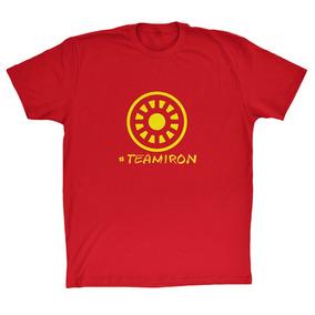 Camisa Guerra Civil #teamiron 100% Algodão