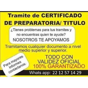 Título, Cédula, Certificado Preparatoria, No Lo Dejes Padar!
