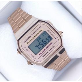 Reloj Casio Rosa / Rose Gold A168 Vintage Retro Dama