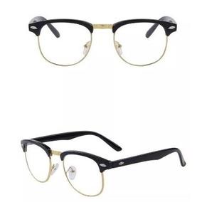 Armacao Quadrada Cor Dourada - Óculos no Mercado Livre Brasil fe8c902eb4