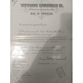 Autografado - Gabinete Do Rei Vittorio E. Iii Da Itália.