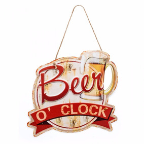 Placa Beer O Clock Ludi Imaginarium