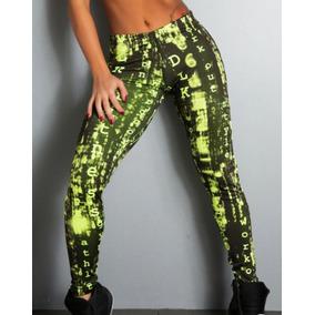 102ab97cf Calça Legging Estampada Sublimada Neon Verde