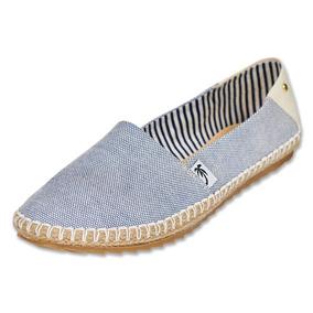Calzado Dama Mujer Zapato Moda Azul Flat Casual Cómodo