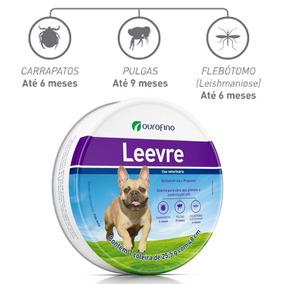 Leevre Coleira Cães P 48cm Antipulga/carrap/leishm Ouro Fino