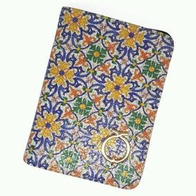 Porta Pasaporte Flores Talavera Mexicana Cartera Tarjetas