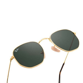 477a4f2dfe758 Oculos De Sol Hexagonal Lente De Cristal Brinde - Óculos no Mercado ...