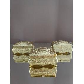 Porta Jóia Baú Dourado, 30 Unidades