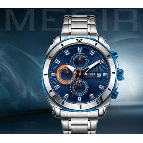 0043c35c535 Relógio Masculino Social Exclusivo Original Megir Azul Novo