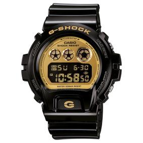 Relógio G-shock Dw-6900 - Cor Preto+dourado