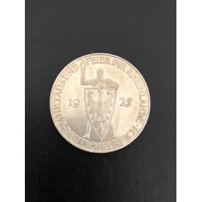 Moeda Alemanha 5 Reichsmark 1925-d Rheinlande
