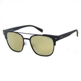 5c88518dd9320 Oculos De Sol Dourado Masculino - Óculos De Sol Polaroid no Mercado ...
