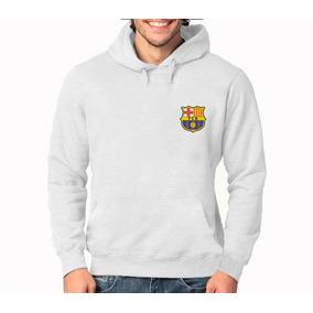 ea3665333df71 Blusa Moleton Barcelona Futebol 100% Algodão Estampada