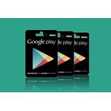 Google Play Recarga R$ 30 - R$50 - R$ 100