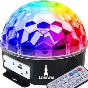 Meia Bola Maluca Led Cristal Bluetooth Pendrive Controle