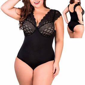 6ea662f03 Body Plus Size Redutor Medidas Em Renda Bege 46 48 50 52 54