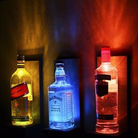 Kit Luminárias Para Garrafa Decoração Bar Mdf (3 Un)
