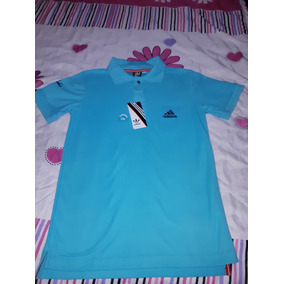 Playera Tipo Polo De Color Turquesa