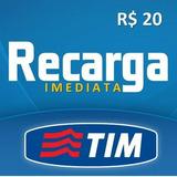 Recarga De Celular Tim R$ 20 | Crédito Celular | Imediato