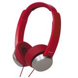 Panasonic Rp-hxd3w-r Street Style Monitor Headphones, Red/si
