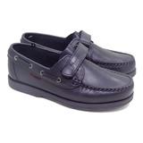 Zapatos Colegial Marcel Nautico Abrojo Varon Cuero Dreams G