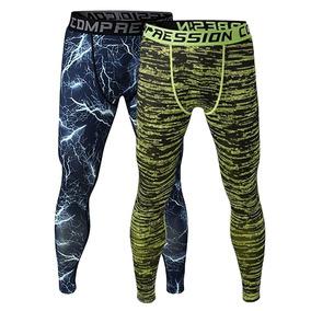 2x Hombres Ejercicio Legging Correr Apretado Pantalones Ruti 696f88131c04
