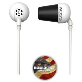 Fone De Ouvido Koss The Plug In Ear Original Espumas Branco