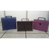 Porta K7 - Case, 03 Unidades Em Plástico E Acrílico-usados