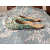 Zapatos Kussas Hindúes Turquesas
