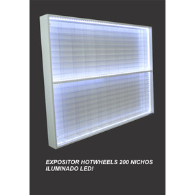 Estante Expositor Hotwheels 200 Nichos Led Promo Com Brinde